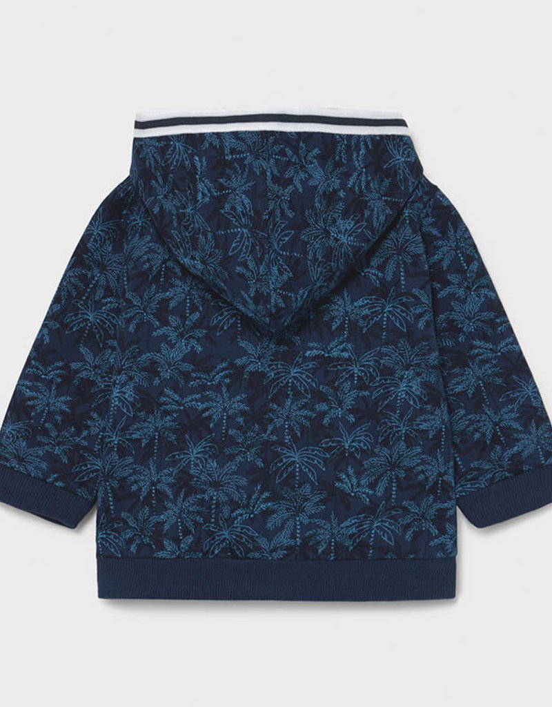 Mayoral Printed Zippered Sweatshirt Blue