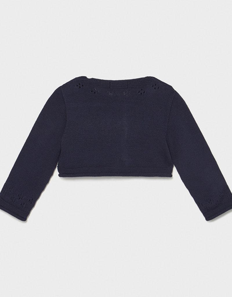 Mayoral Knit Open Stitch Cardigan Navy