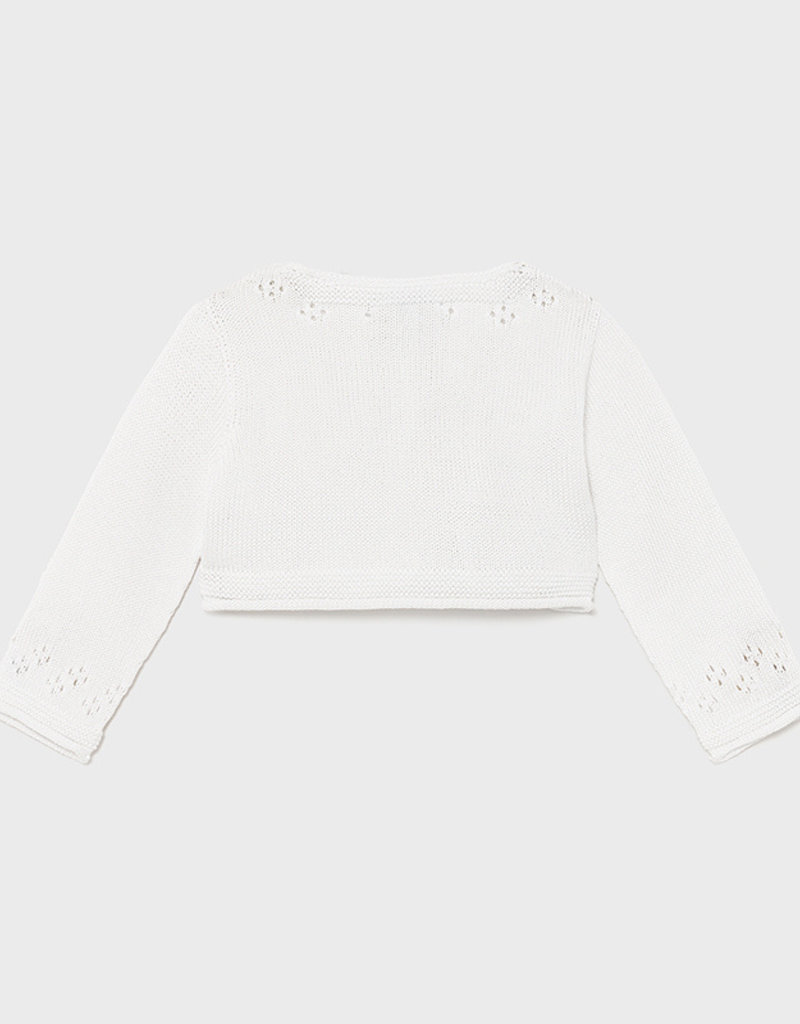 Mayoral Knit Open Stitch Cardigan White