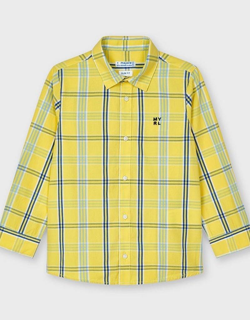 Mayoral L/S Plaid Shirt Banana