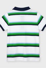 Mayoral Matcha Striped S/S Polo