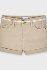 Mayoral Twill Shorts w/belt Camel