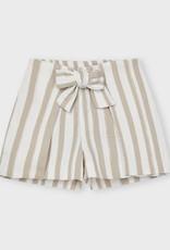 Mayoral Striped Shorts Camel