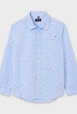 Mayoral L/S Light Blue Printed Shirt