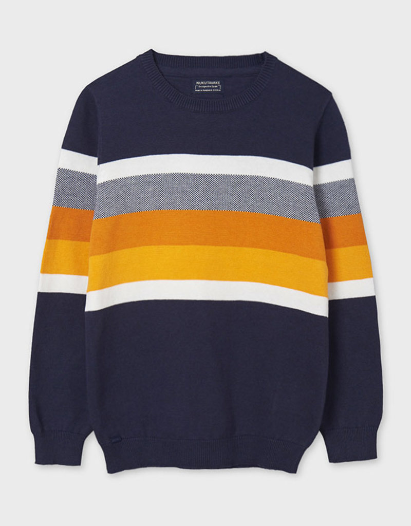Mayoral Striped Sweater Ocean