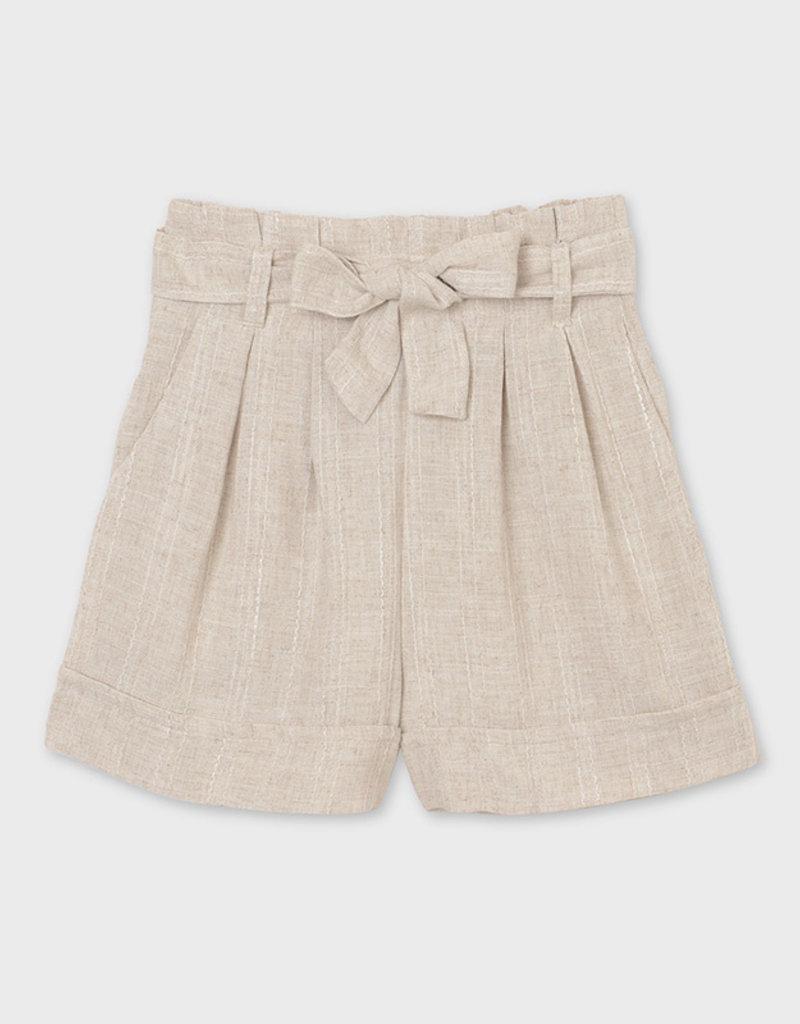 Mayoral Linen Shorts Natural