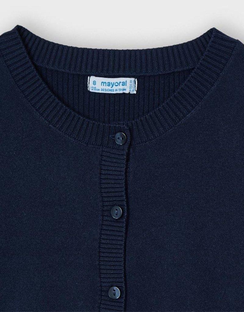 Mayoral Basic Knit Cardigan Navy