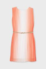 Mayoral Pleaded Dress Peach