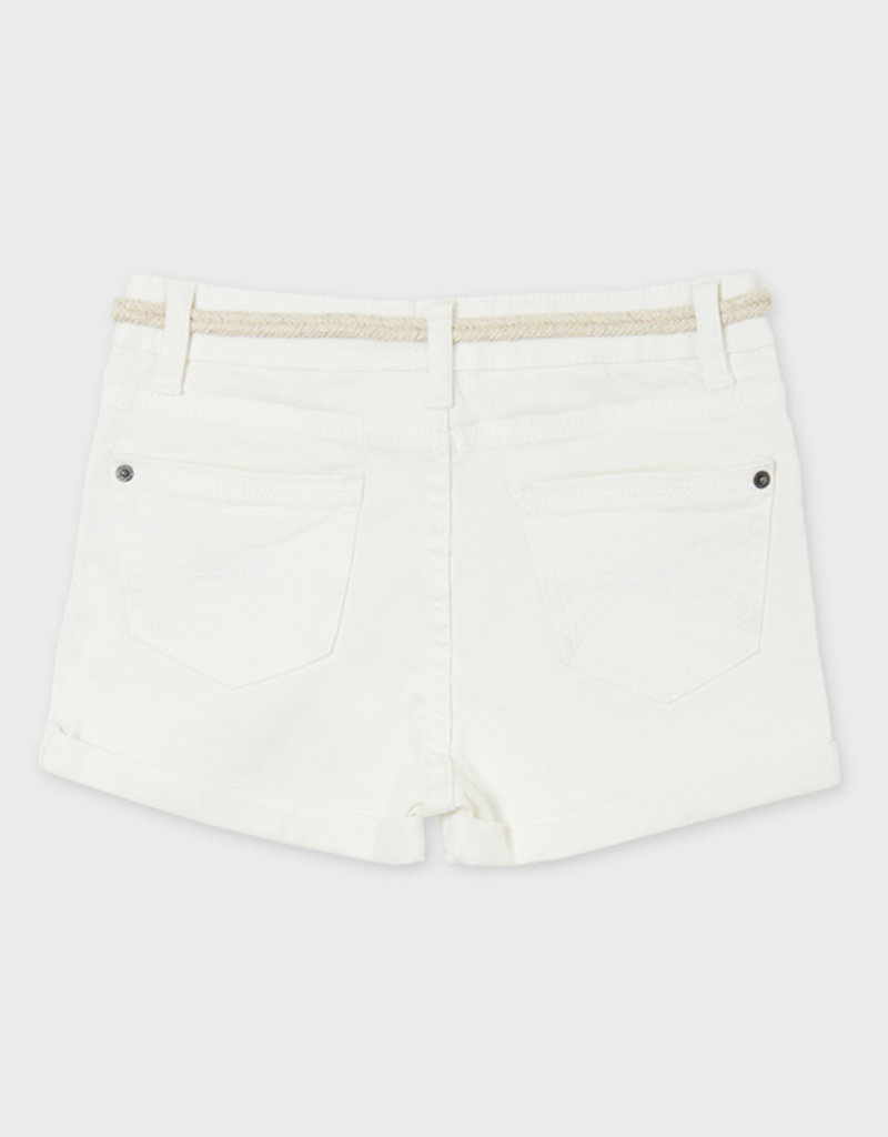 Mayoral Twill Shorts Off White