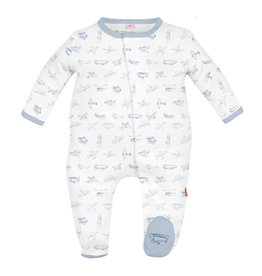 Magnetic Me Airplanes Organic Cotton Footie NB-9/12M