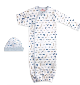 Magnetic Me Airplanes Organic Cotton Gown Set NB/3M
