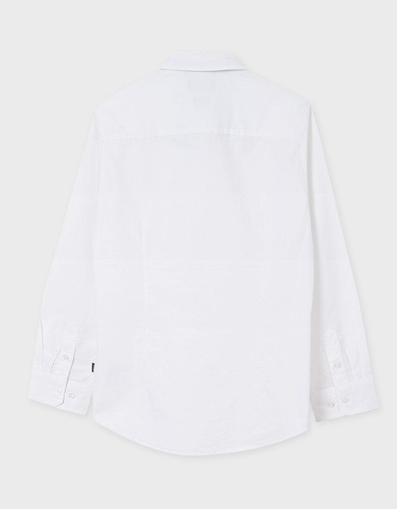 Mayoral L/S  White Shirt w/Bow Tie