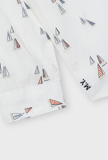 Mayoral L/S Boat Print Shirt