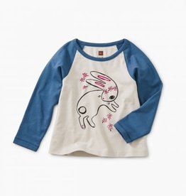 Tea Collection Bunny Hop Graphic Raglan 6/9M