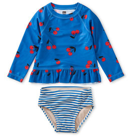 Tea Collection Ruffle Rash Swim Set Giant Ginjas 3/6M-4T