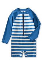 Tea Collection Rash Guard Swimsuit Stripe Mariner