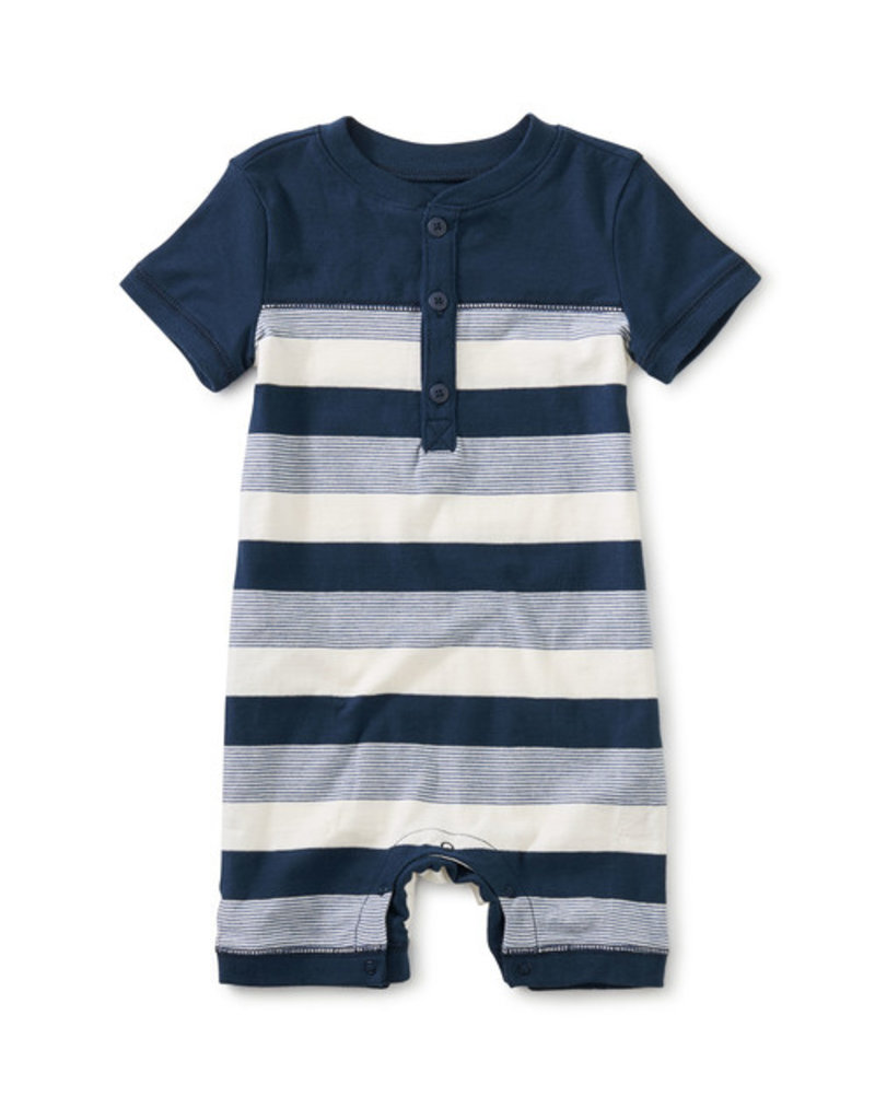 Tea Collection Henley Baby Romper Whale Blue