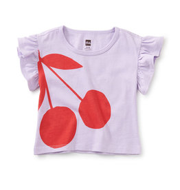 Tea Collection Cherry on Top Flutter Tee 3/6M-4T