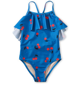 Tea Collection Flutter One pc Swimsuit Ginja Cherry Blue