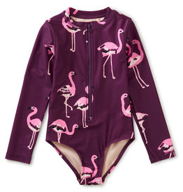 Tea Collection L/S One Pc Swimsuit Flamingo Flamboyance