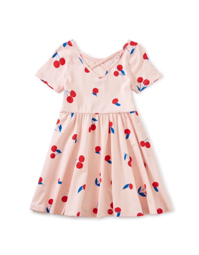 Tea Collection Ballet Dress  Ginja Cherry Pink