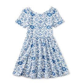 Tea Collection Ballet Dress Floral Azulejos