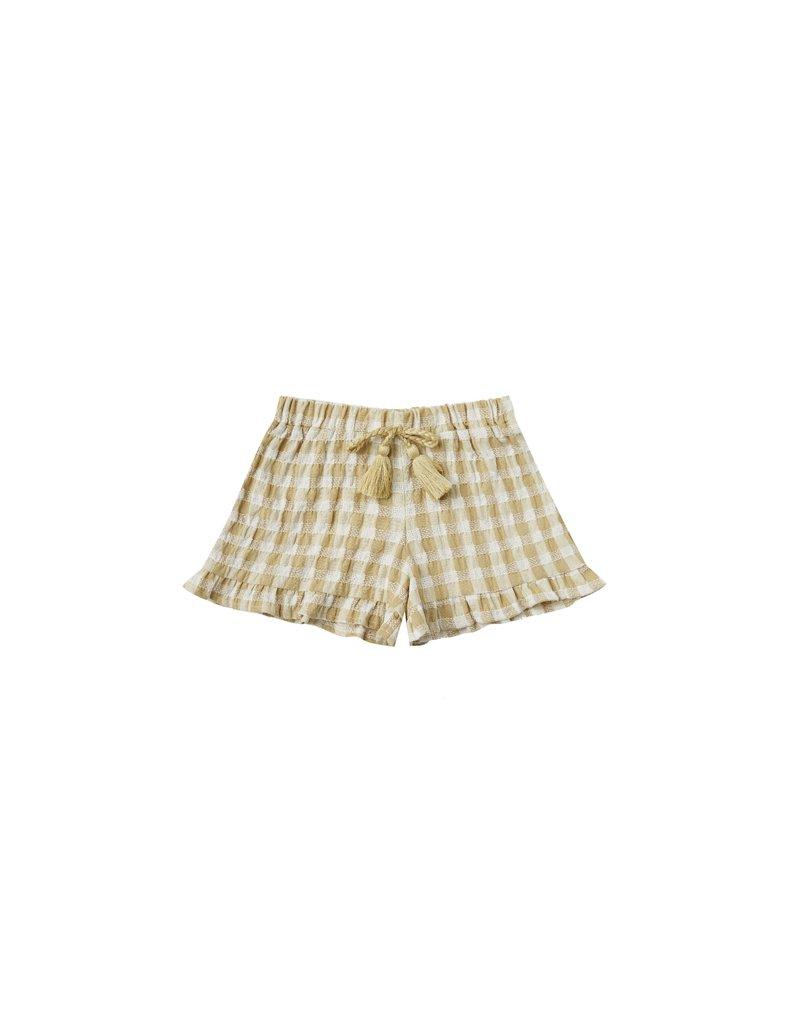 Rylee & Cru Gingham Ruffle Shorts Butter Check