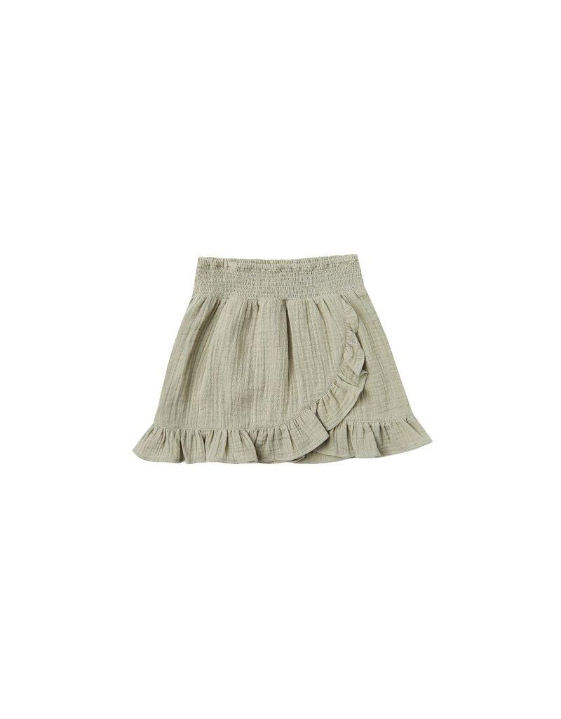 Rylee & Cru Wrap Ruffle Skirt Sage
