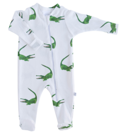 Jennifer Ann Alligators Organic Footie 0/3M, 3/6M