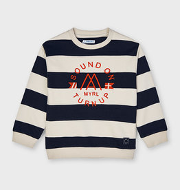 Mayoral Black Striped Pullover 2-4