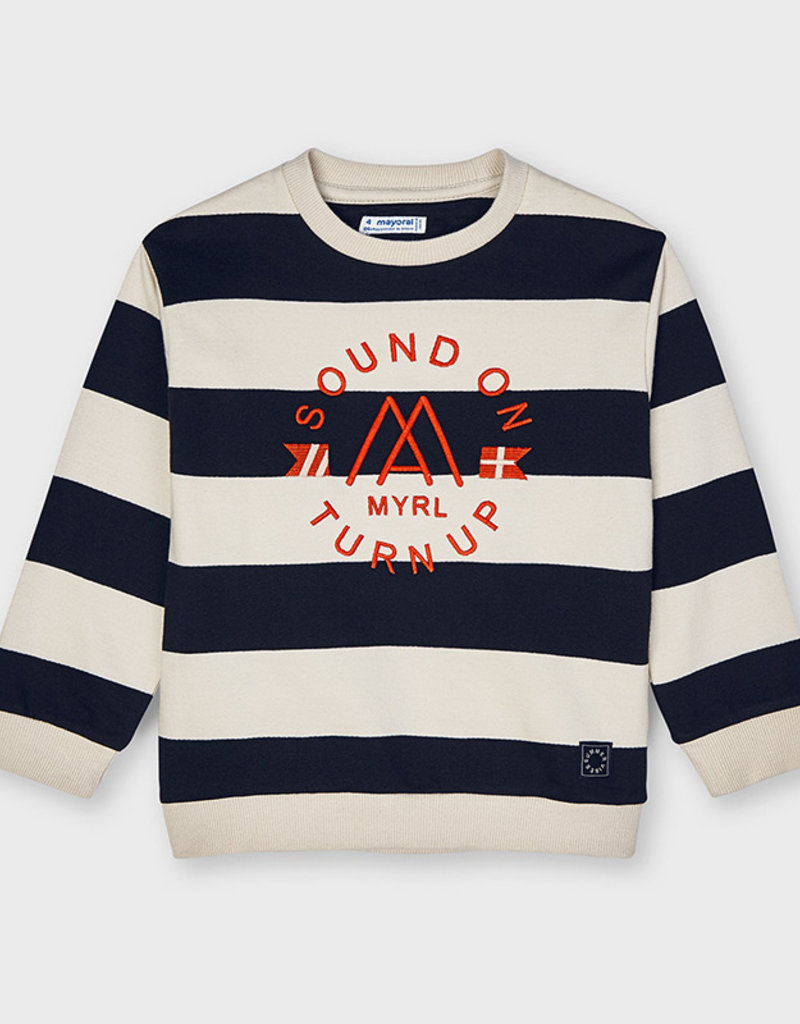 Mayoral Black Striped Pullover