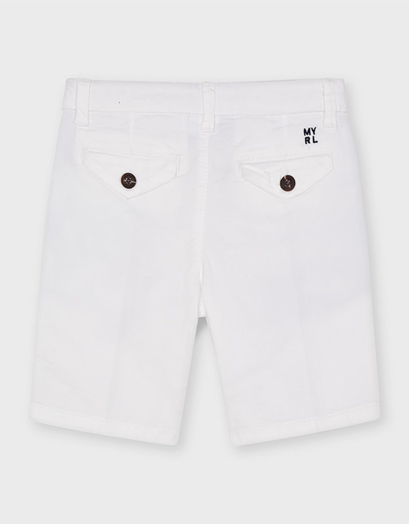 Mayoral Twill Chino Shorts White