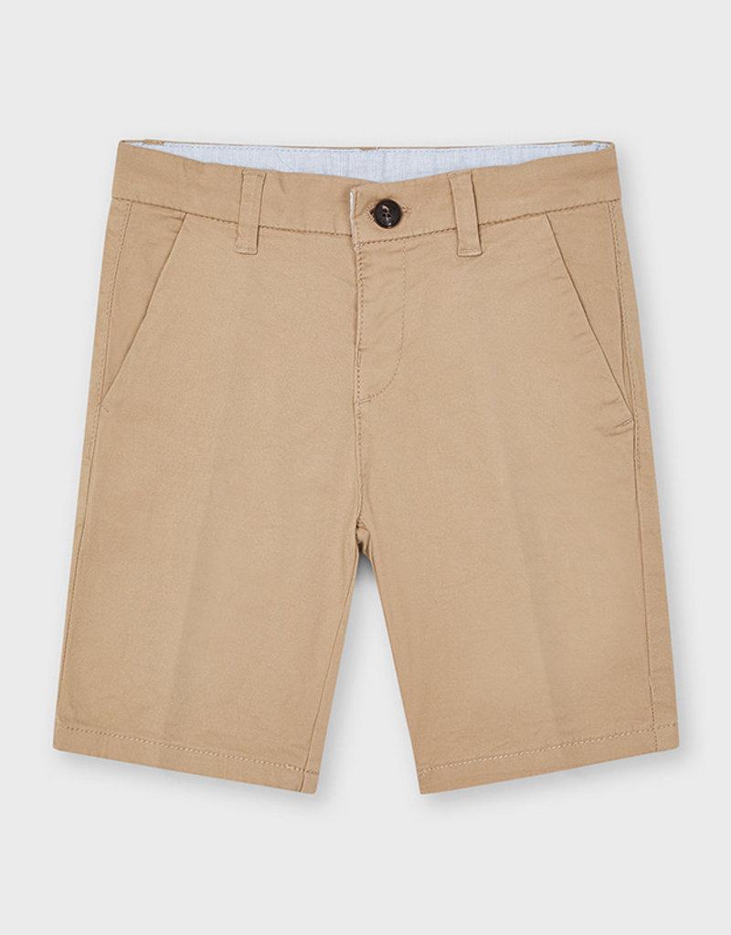 Mayoral Twill Chino Shorts Sesame