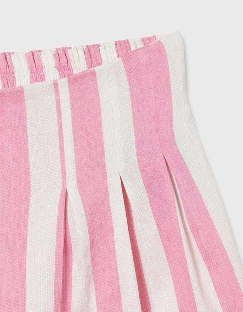 Mayoral Loose Pink Stripe Shorts