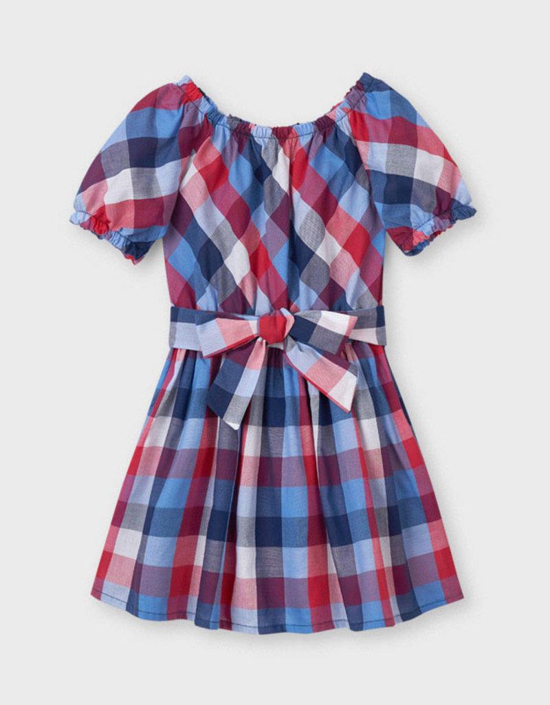 Mayoral Plaid Dress Poppy