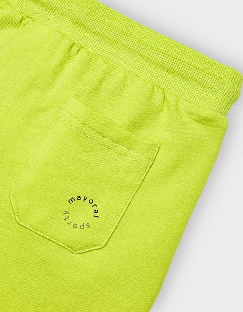 Mayoral Fleece Shorts Lime