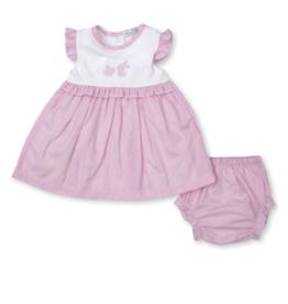 Kissy Kissy Pique Bunny Dress Set Pink