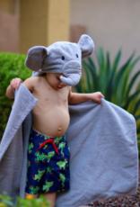 Yikes Twins Elephant Hooded Towel