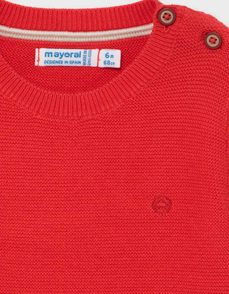 Mayoral Cyber Red Cotton Sweater
