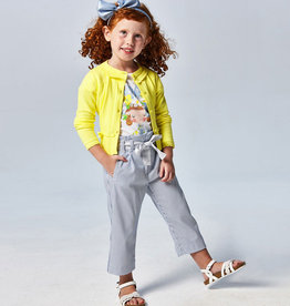 Mayoral Cropped Blue Striped Pants