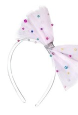 Lilies & Roses NY Tulle Lt Pink Bow Headband