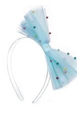 Lilies & Roses NY Tulle Blue Bow Headband