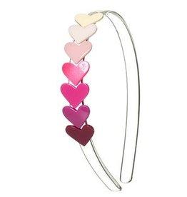 Lilies & Roses NY Centipede Pink Hearts Headband
