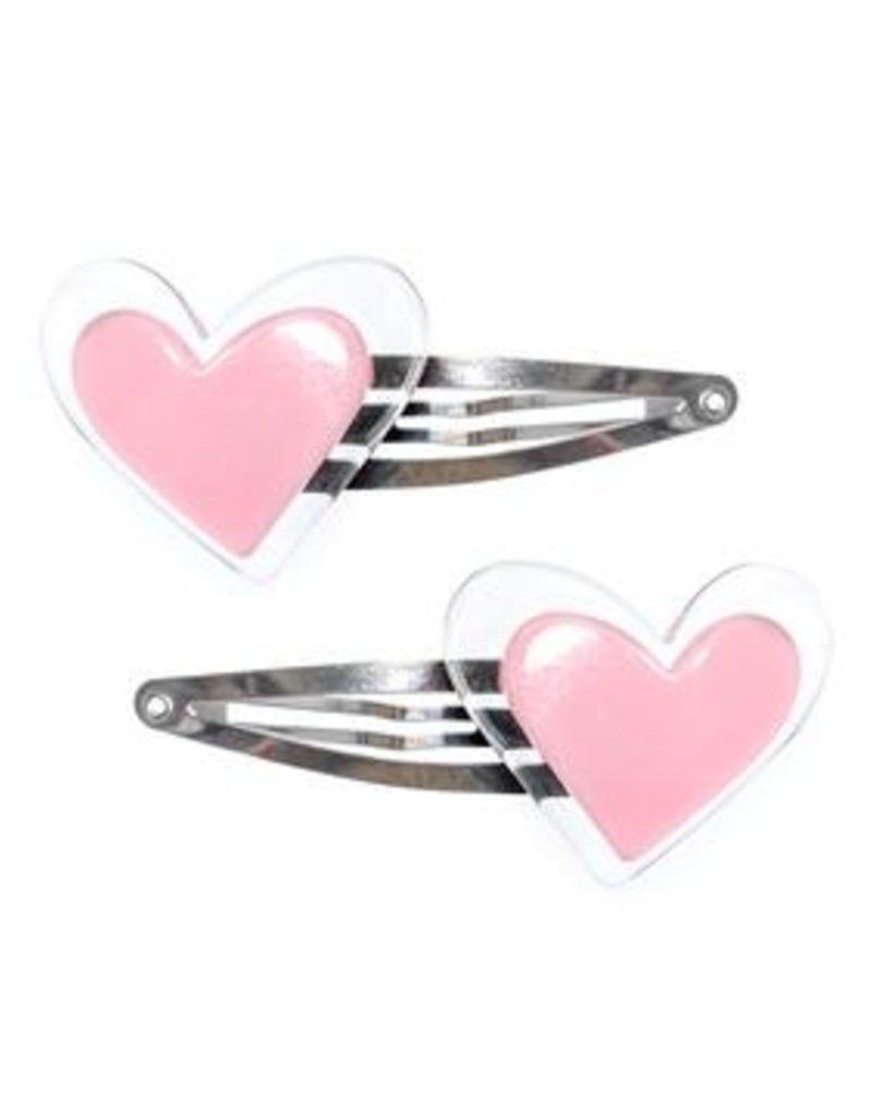 Lilies & Roses NY Agatha Pink Heart Snap Clip