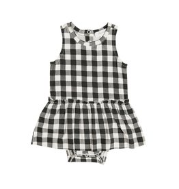 Angel Dear Gingham Black Bodysuit w/Skirt 0/3M-18/24M