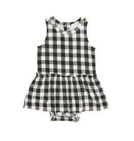 Angel Dear Gingham Black Bodysuit w/Skirt