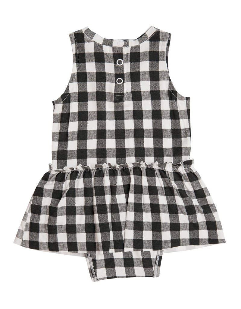 Angel Dear Gingham Black Bodysuit w/Skirt