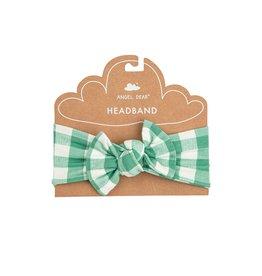 Angel Dear Gingham Green Headband 0/12M, 12/24M