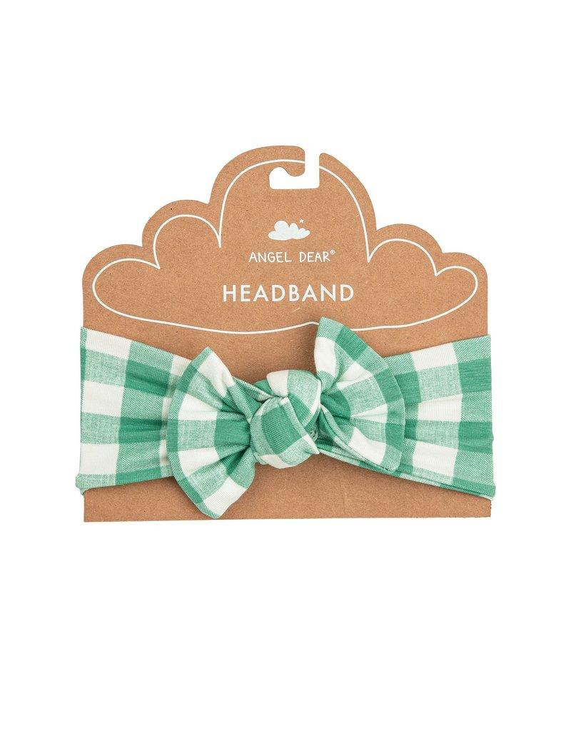 Angel Dear Gingham Green Headband
