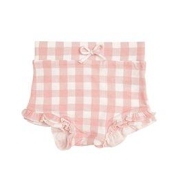Angel Dear Gingham Pink High Waist Shorts 0/3M-18/24M